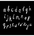 White color handdrawn alphabet vector