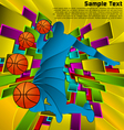 Abstract sport design basketball player vector