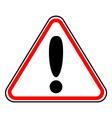Hazard warning attention sign vector