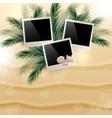 Solar gierki day with photos on the golden sand on vector
