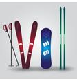Ski and snowboard eps10 vector
