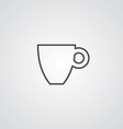 Coffee outline symbol dark on white background vector