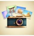Travel photo background vector