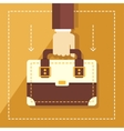Business concept in flat style hand holding vector