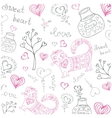 Background with different cute animals and objects vector
