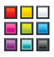 Square empty buttons vector