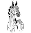 Horse head animal for t-shirt vector