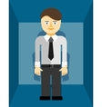 Young businessman icon vector