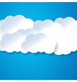 Paper clouds on the blue vector