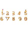 Numbers to ten vector