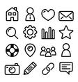 Website menu navigation line icons - home search vector