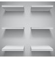 White shelves vector