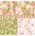 Set of floral seamless borders frames vector