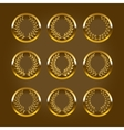 Luxury gold labels with laurel wreath vector