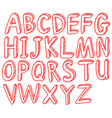 Red alphabets vector
