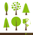 Collection of abstract tree vector