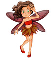 Red fairy vector