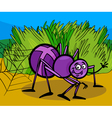 Cross spider insect cartoon vector