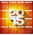 Calendar 2015 with long shadow vector