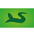Snake with open mouth vector
