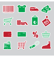 Shopping stickers set eps10 vector