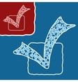 Mosaic doodle checkmark vector