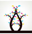 Abstract colorful leaf tree vector