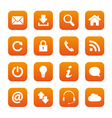 Orange web buttons vector