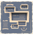 Web design template in retro style vector