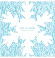 Abstract frost swirls texture christmas snowflake vector