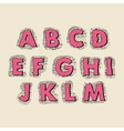 Cute hand drawn font letters vector
