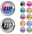 Zip multicolor round button vector
