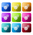 Cogs - gears colorful icons set isolated on white vector