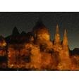 Beautiful night landscape triangle design vector