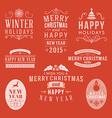 Christmas decoration set of design elements labels vector
