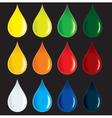 Glossy colorful drops vector