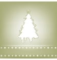 Elegant christmas tree card vector