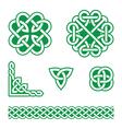 Celtic knots green patterns - vector