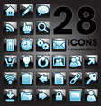 Silver shiny icon set vector