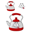 Cartoon kettle with a happy smile vector