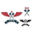 Darts emblems and symbols vector