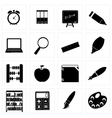 Different school icon silhouettes set3 vector