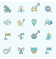 Mobile navigation icons flat line vector