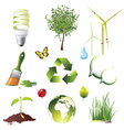 Ecology protection icons set vector