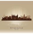 Peterborough england city skyline silhouette vector