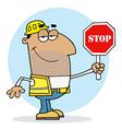 Cartoon construction worker vector