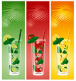 Refreshing mojito cocktails vector