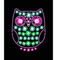 Gem owl vector