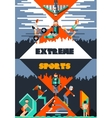 Extreme sports poster vector