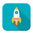 Rocket app icon with long shadow vector